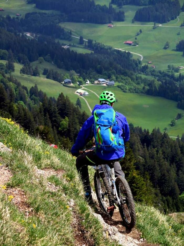 Allgäu ist ideal zum Mountainbiken