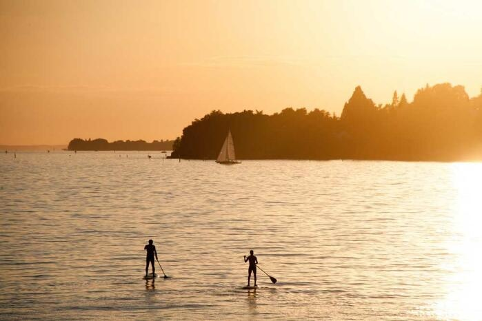 Stehpaddler am Bodensee