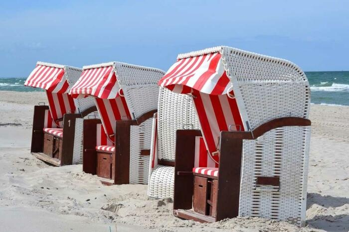 Strandkörbe auf Fehmarn